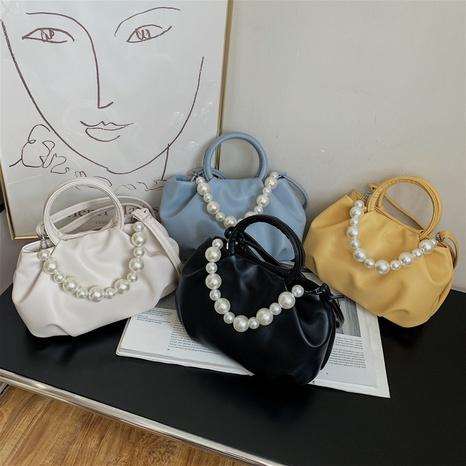 Korean pearl chain cloud diagonal bag NHJZ369050's discount tags