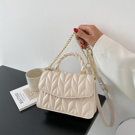 fashion lingge embroidered metal chain messenger bag NHJZ369037's discount tags