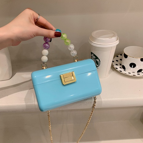 fashion acrylic candy color metal chain messenger bag NHJZ369056's discount tags