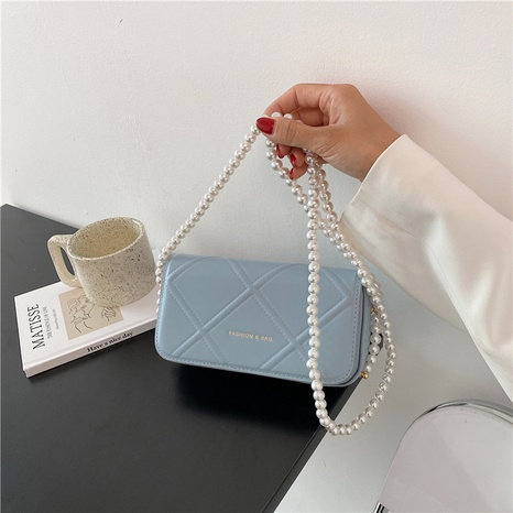 fashion solid color pearl chain messenger bag  NHJZ369060's discount tags