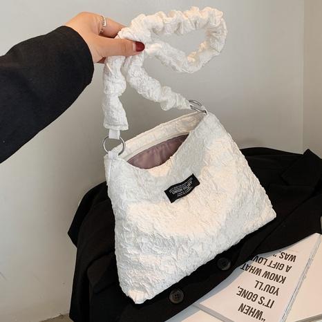 Korean black and white three-dimensional printing fold square bag  NHJZ369067's discount tags