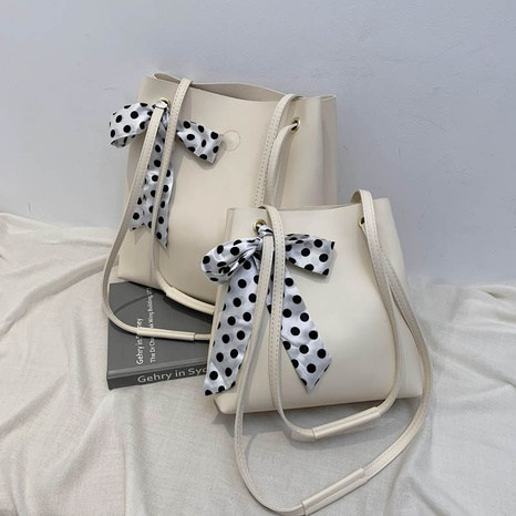 simple bow knot large-capacity bucket bag NHJZ369070's discount tags