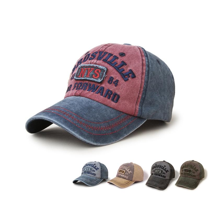 Korean style sunshade wide brim washed baseball cap  NHTQ369081