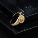 fashion eye shape copper opening ring NHFMO369102