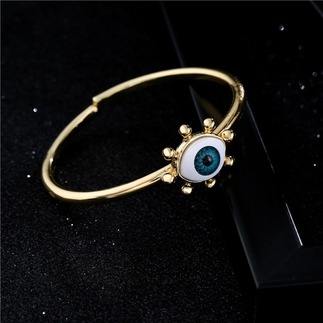 Retro electroplating 3D stereo devil's eye open bracelet  NHFMO369113's discount tags
