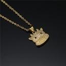 Fashion Copper Microinlaid Zircon Cute Baby Cow Pendant Necklace  NHFMO369117