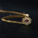 Fashion Zircon Irregular Geometry Eye Pendant Necklace  NHFMO369128