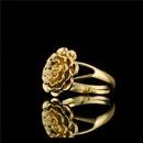 retro big flower ring copper ring  NHFMO369180