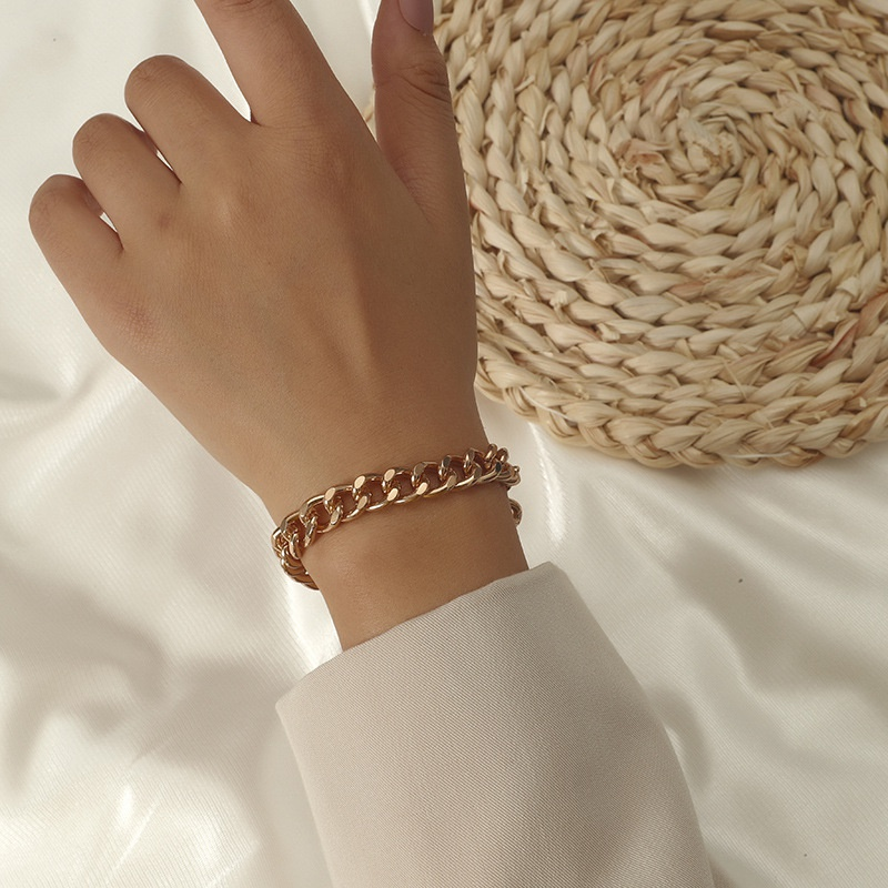 Korean style creative twist thick chain OT buckle bracelet  NHKQ369227