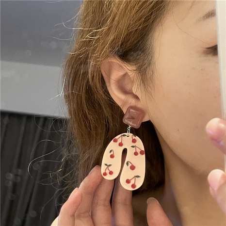 Korean resin cherry fruit earrings  NHYQ369246's discount tags