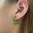 Korean spray paint asymmetrical color earrings NHYQ369259