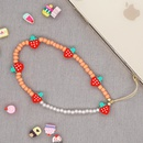 ethnic style imitation pearl soft pottery strawberry mobile phone lanyard  NHYUZ369288