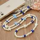 ethnic style round beads acrylic fivepointed star glazed eye beads mobile phone chain  NHYUZ369291