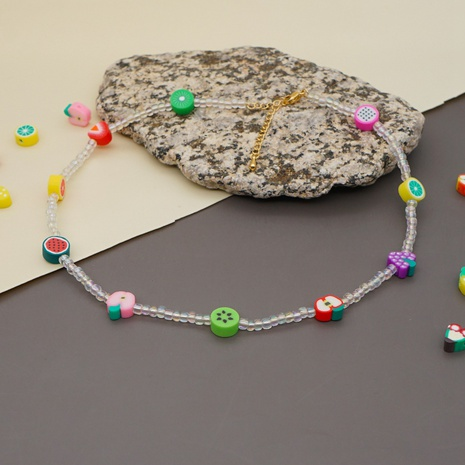 Boho Style Stained Glass Millet Bead Soft Pottery Fruit Bracelet  NHYUZ369293's discount tags