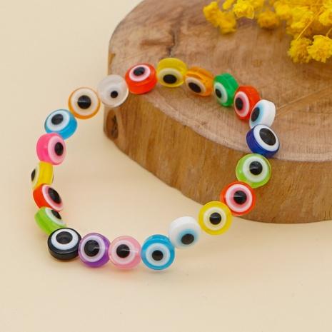 Boho style contrast color acrylic eye bead bracelet  NHYUZ369294's discount tags