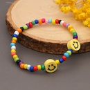 Boho Contrast Color Stained Glass Millet Bead Bracelet  NHYUZ369295
