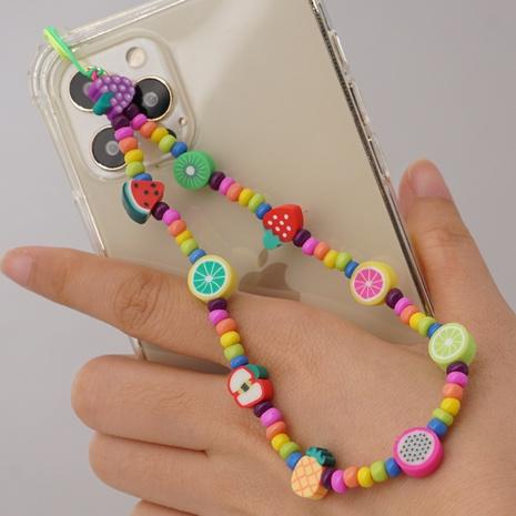 bohemian fruit series glass millet beaded mobile phone lanyard NHYUZ369304's discount tags