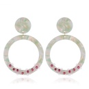 Retro Contrasting Color Acrylic Flower Earrings NHVA369320