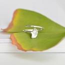 Korean simple fashion ginkgo leaf opening ring  NHHER369396