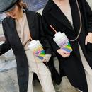 fashion funny laser sequin letter shoulder bag NHAV369435