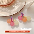 NHHER1710488-G1227-Rose-Yellow-Orange-Ball-Stud-Earrings