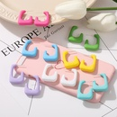 creative simple geometric Ctype solid color earrings NHYI369447