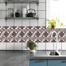 Retro coffee blue lattice tile renovation stickers  NHAF369516