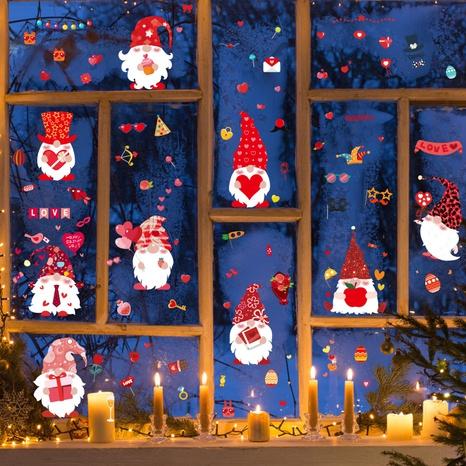 Stickers muraux de fenêtre en verre d'oeuf de lapin de pâques de mode NHAF369511's discount tags