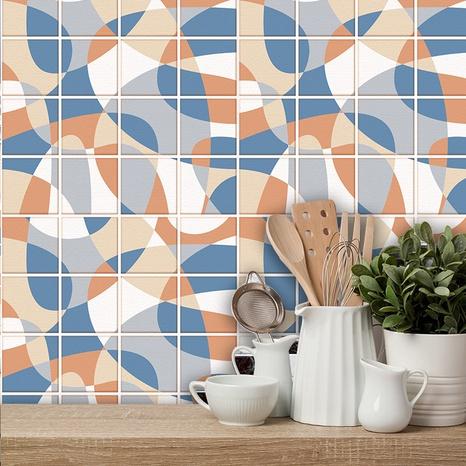 Retro geometrisches Muster Gitterfliesen Renovierung Aufkleber NHAF369524's discount tags