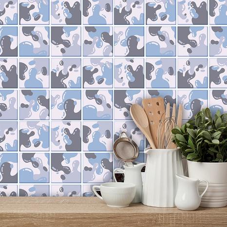 Fliesenrenovierungsaufkleber mit geometrischem Muster im Retro-Stil NHAF369527's discount tags