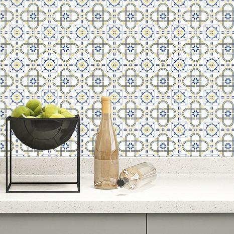 Stickers muraux Bohême contraste couleur motif treillis carrelage cuisine salle de bain stickers muraux NHAF369532's discount tags