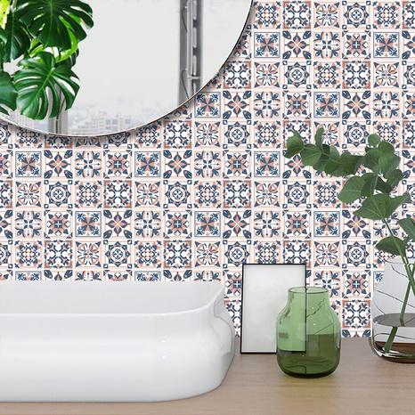 Autocollants muraux de décoration de carreaux de treillis de motif de couleur contrastée de Bohême NHAF369536's discount tags