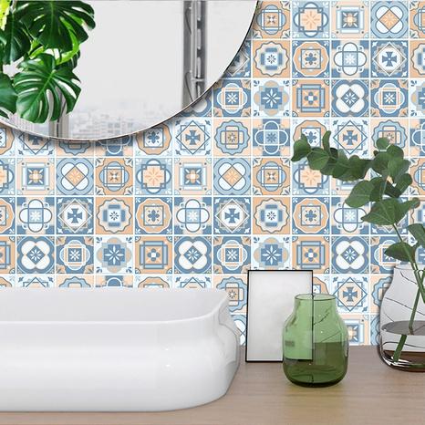 Autocollants muraux de décoration de carreaux de treillis de motif de couleur contrastée de Bohême NHAF369544's discount tags