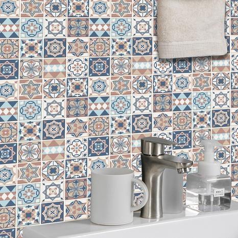 Bohemia star pattern lattice tile renovation stickers NHAF369549's discount tags