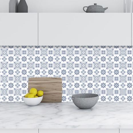 Simple kaleidoscope pattern lattice tile renovation stickers NHAF369550's discount tags