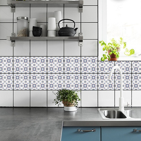 Bohemia blue pattern ceramic tile renovation stickers  NHAF369554's discount tags