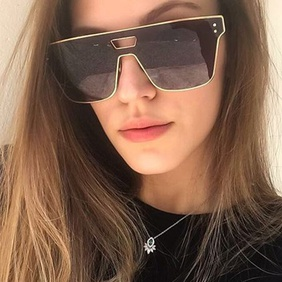 Fashion one-piece square sunglasses NHKD369560