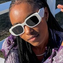 Fashion angular cut face square big frame sunglasses NHKD369566