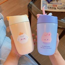 cute cartoon with straws doubledrink portable vacuum cup NHtn369584