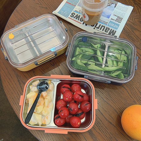 simple large capacity partition insulation stainless steel lunch box NHtn369596's discount tags