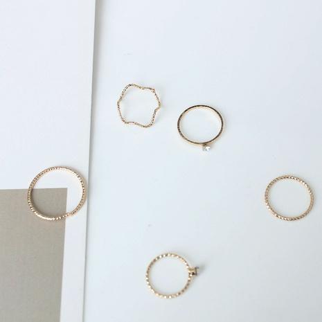 Nihaojewelry Schmuck Wellenring 5-teiliges Set Schmuck Großhandel NHOT374740's discount tags