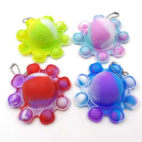 Pioneer silicone flipped octopus doll face expression keychain pendant decompression toy NHZHI369607's discount tags