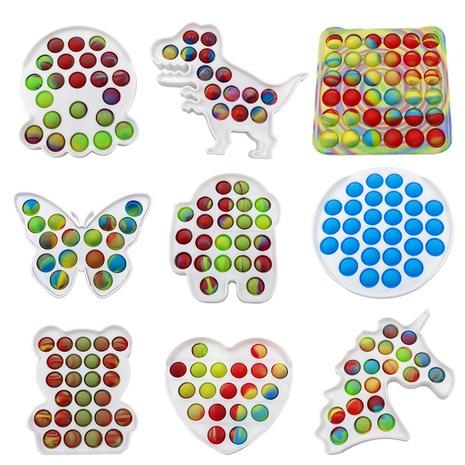Jouet de décompression en plastique de bureau éducatif de licorne de panneau de pressage de camouflage coloré NHZHI369611's discount tags