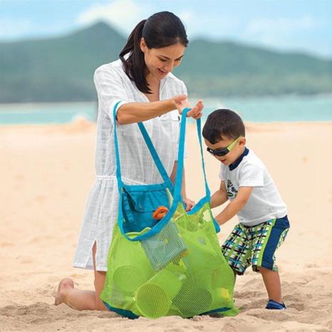 simple portable mesh sundries toys large storage bag NHZHI369613's discount tags