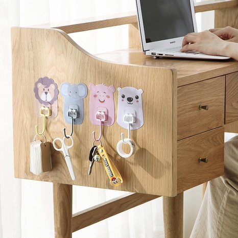 simple cartoon animal stainless steel sticky hook  NHYUE369635's discount tags