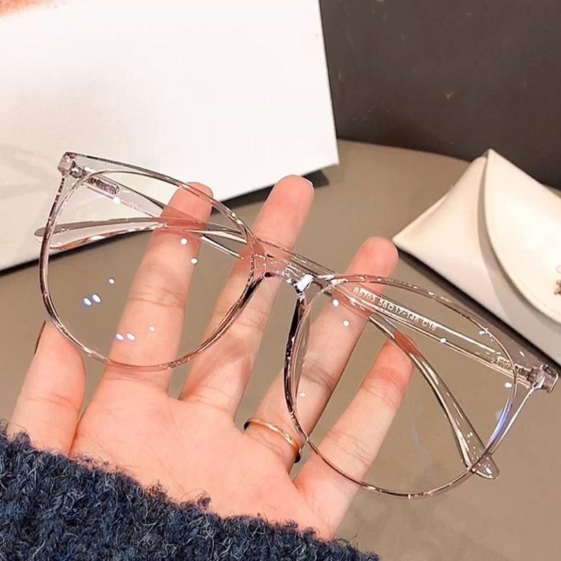 Korean Style AntiBluray Big Round Frame Glasses NHKD369573