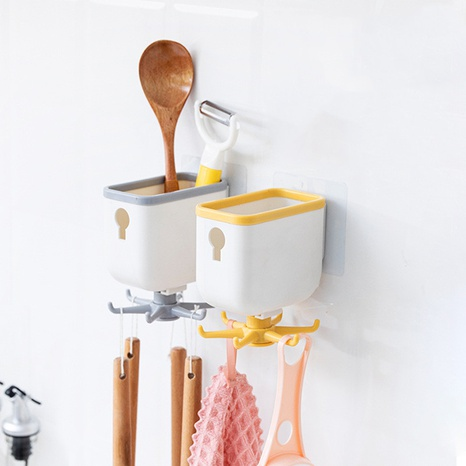 Simple kitchen with storage compartment punch-free rotating hook  NHYUE369634's discount tags