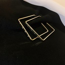 fashion square letter geometric alloy earrings  NHQC368754