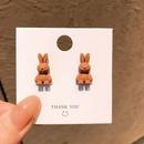 Korean Threedimensional Bunny Stud Earrings NHHER369417