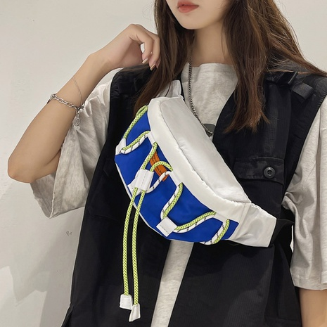 Bolso de cintura de lona de hombro de impresión casual simple coreano NHLH369722's discount tags
